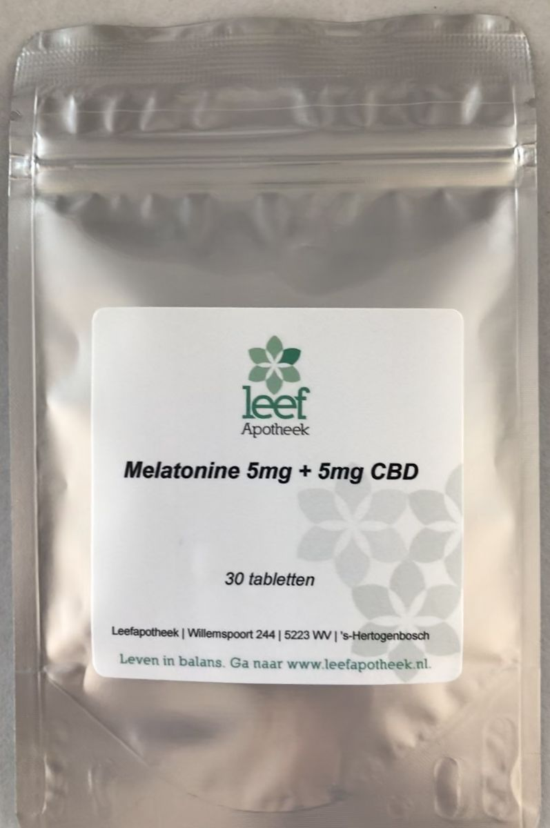 CBD 5mg en Melatonine 5mg 30 tabletten